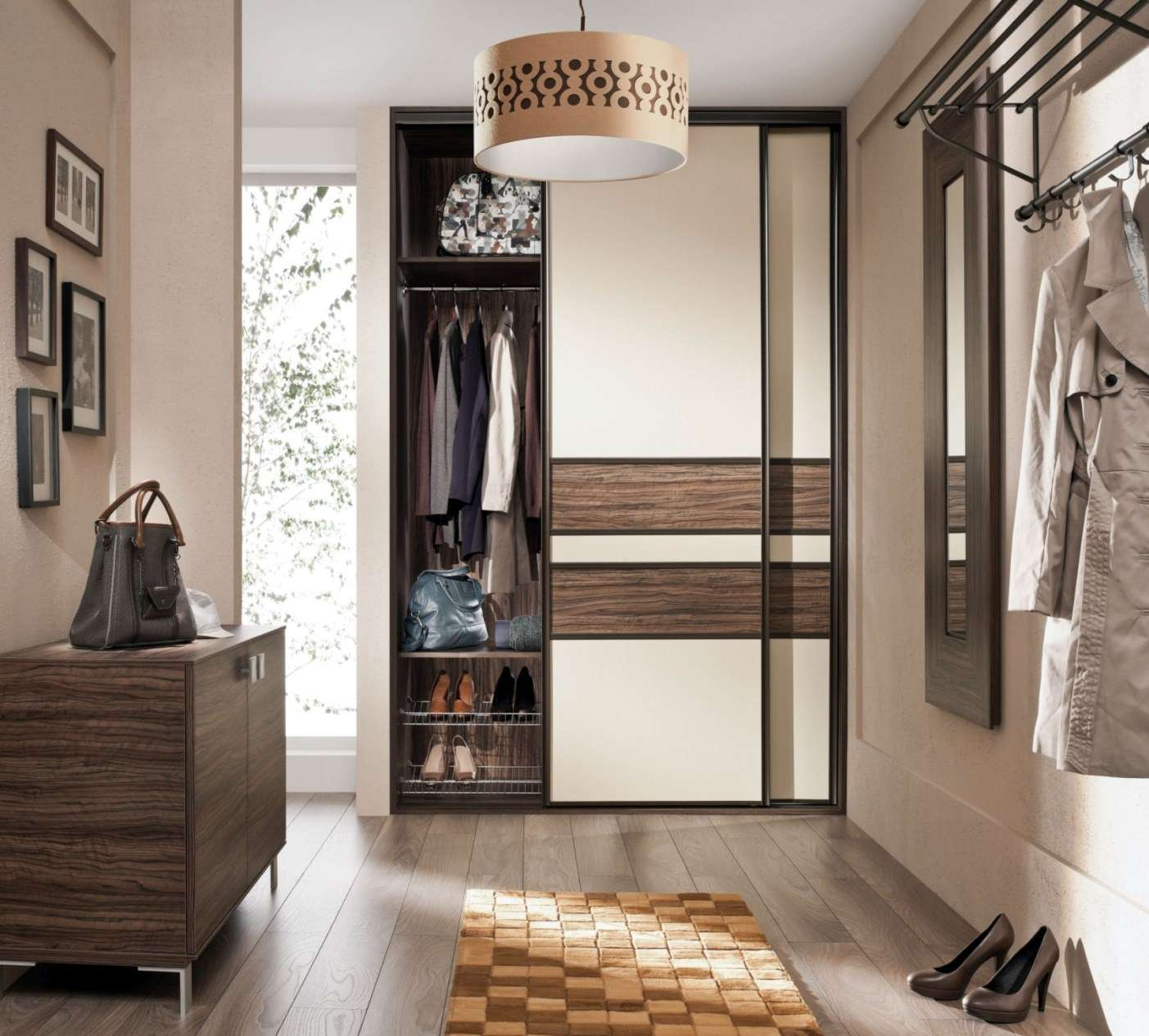 Lux keretes előszoba beépített szekrény