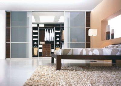 Agat keretes hálószoba beépített szekrény