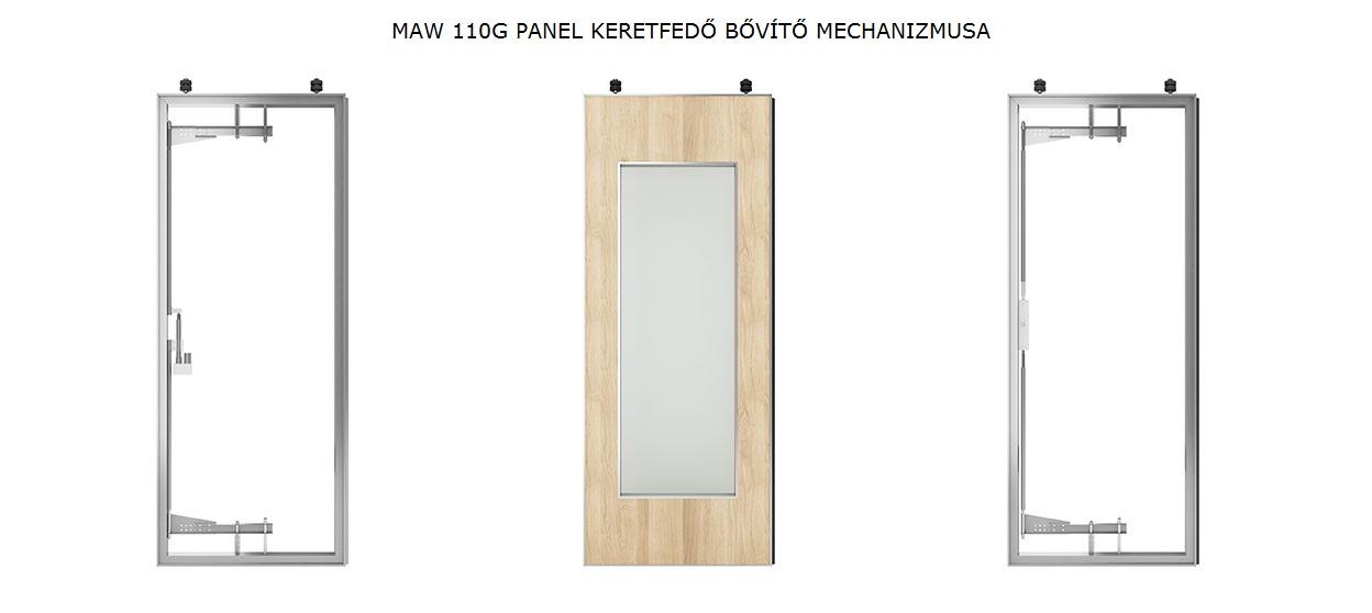 MAW110G Mobilfal panel keretfedő bővítő mechanizmusa